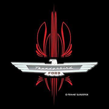Ford Thunderbird Emblem w Pinstripes by azoid