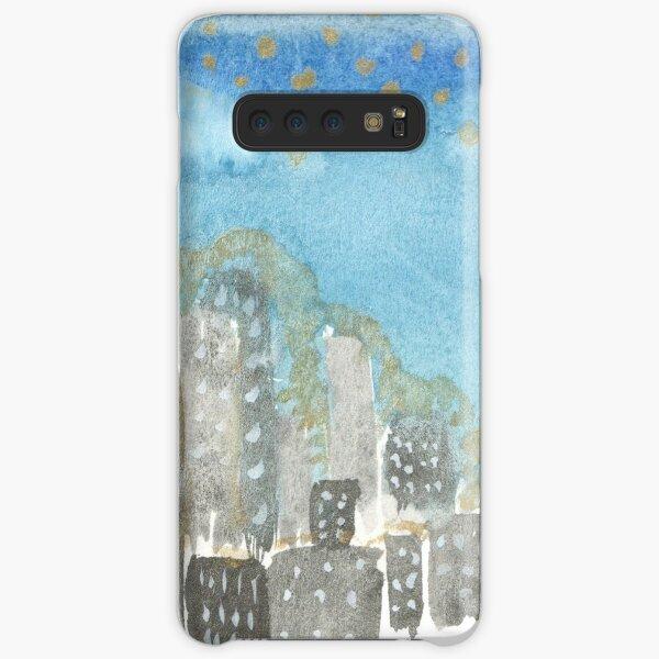 Original Watercolor Painting - City Skyline Samsung Galaxy Snap Case