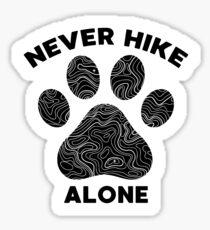 Nunca camine solo perros y senderismo Pegatina