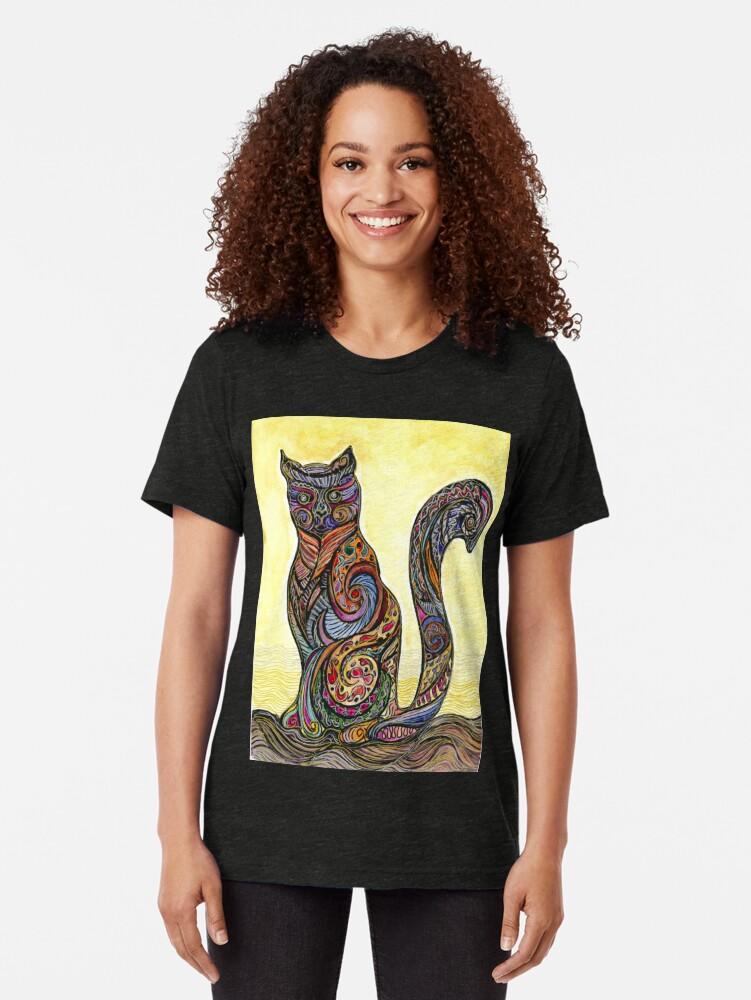 Vista alternativa de Camiseta de tejido mixto Cat of Many Colors