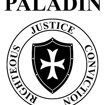 Paladin Fantasy RPG Class Holy Shield  by WarlordApparel