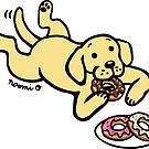 Yellow Labrador and Donuts by HappyLabradors