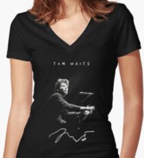 Tom Waits - Piano - Music Women's Fitted V-Neck T-Shirt