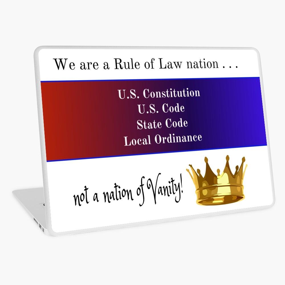 Rule of Law Nation Laptop Skin