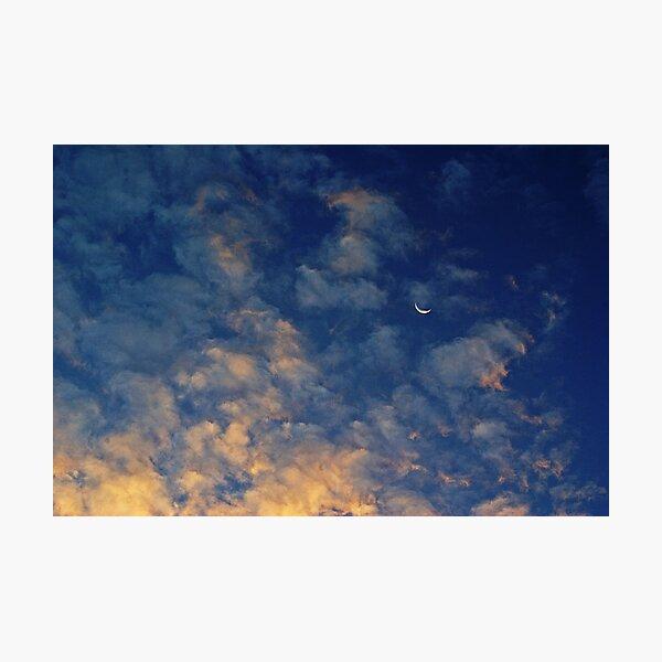 Moonset over St. Simons Photographic Print