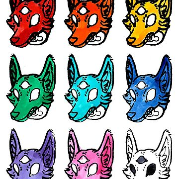 Candy Colored Space Coyotes by HiddenStash