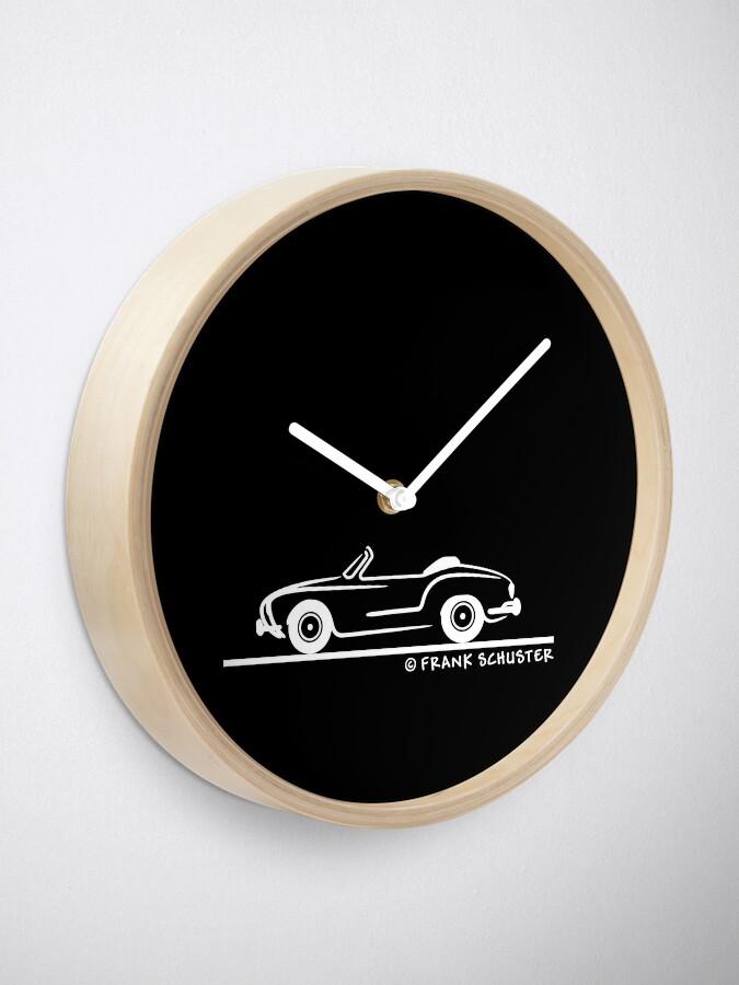 Alternate view of Karmann Ghia Convertible White Clock