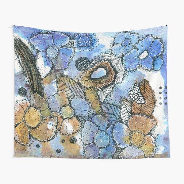 Abstrakte Blumen Wandbehang