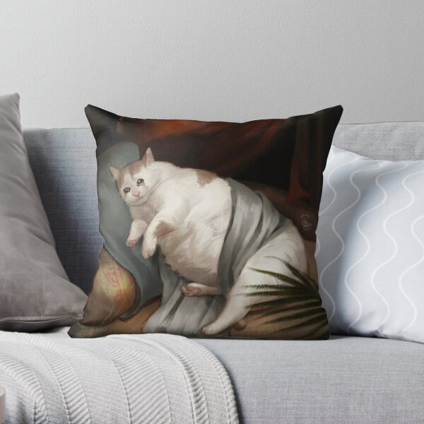 Crying in Renaissance Throw Pillow