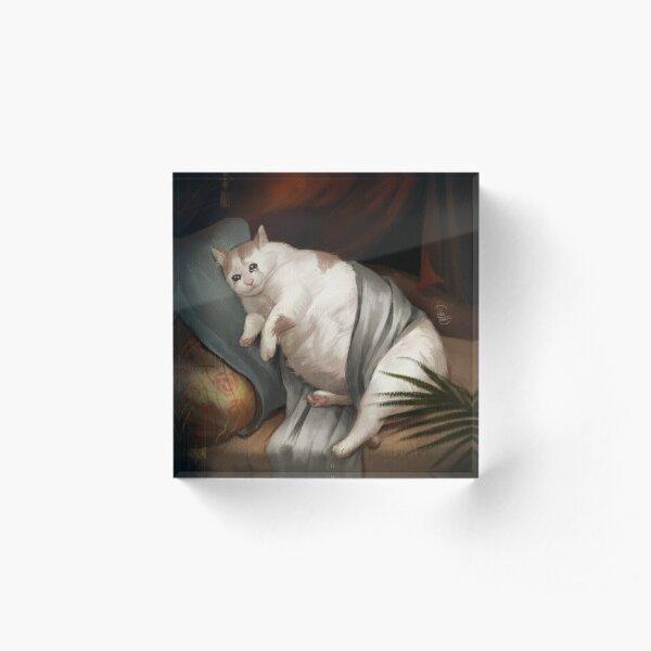 Crying in Renaissance Acrylic Block