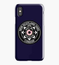 """Not my division!"" Lestrade NSY Badge iPhone Case/Skin"
