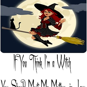 Halloween Witch on Broom Text Design  by deecdee