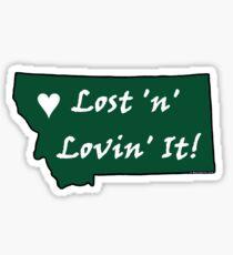 Montana Lost 'n' Lovin' It! Sticker - Green Sticker