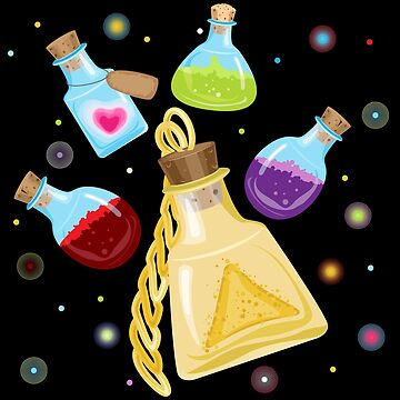 Magic bottles with a potion by IrinkaArt