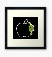 Android Bite Apple Framed Print