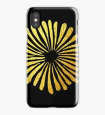 Black gold daisies iPhone Case