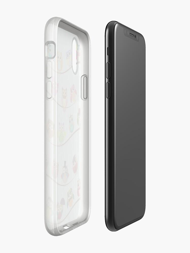 Alternative Ansicht von Nette Eulen auf Zweig iPhone-Hülle & Cover