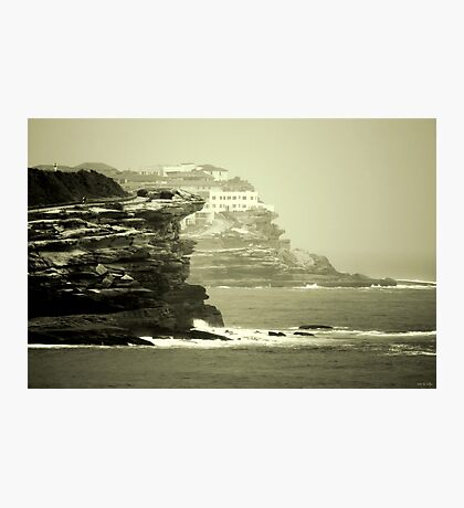 On the Rugged Cliffs Photographic Print