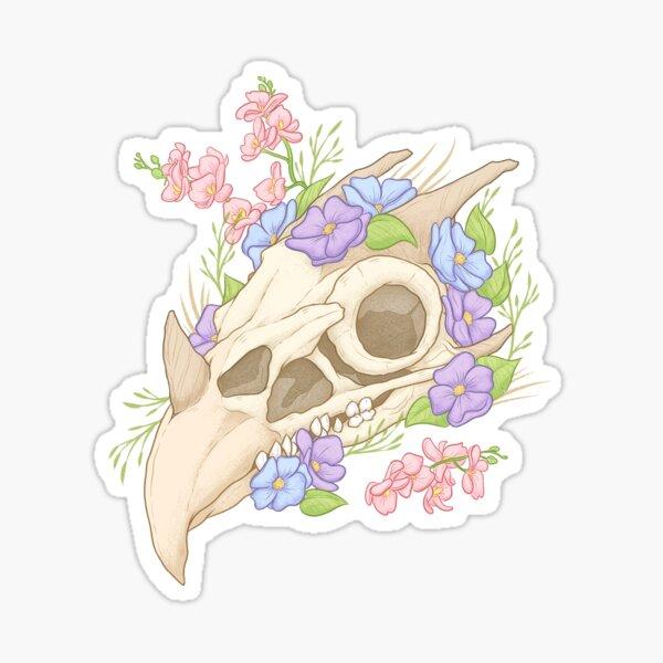 Boho Gryphon Skull Sticker