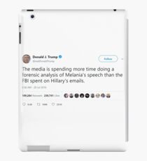 Donald J. Trump - tweets @realDonaldTrump iPad Case/Skin