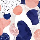 Terrazzo galaxy pink blue white by Sylvain Combe