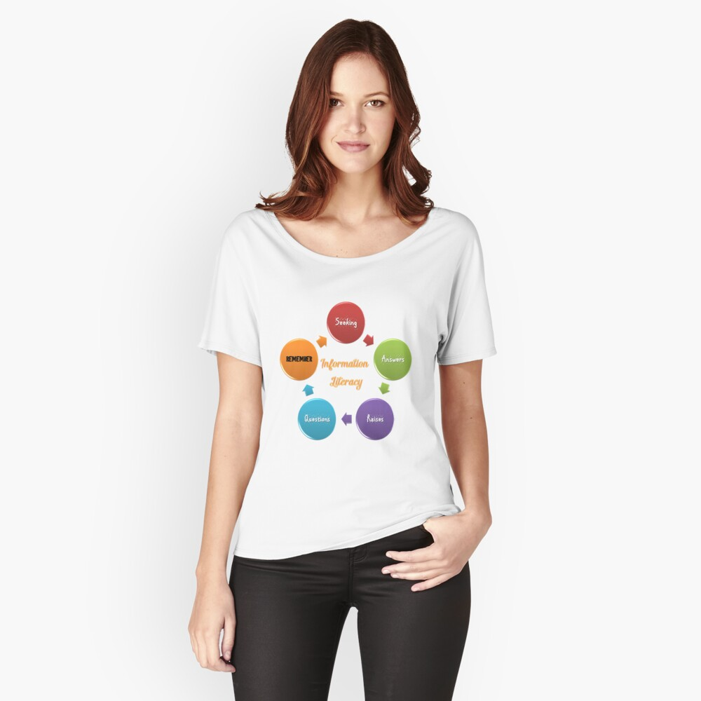 Information Seeking Answers, Raising Questions T-Shirt Women's Relaxed Fit T-Shirt Front