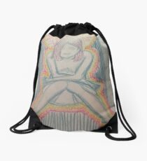 Consumed by Insecure Thoughts Drawstring Bag