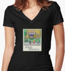 Fuzzy Pickles Women's Fitted V-Neck T-Shirt