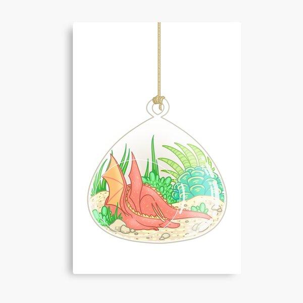 Dragon Terrarium Metal Print