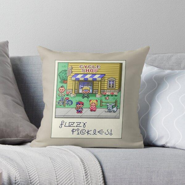 Fuzzy Pickles Throw Pillow