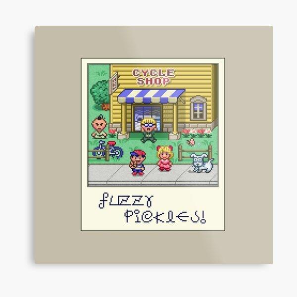 Fuzzy Pickles Metal Print