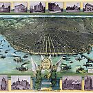 Map St. Louis Missouri Beautiful Pictorial 1896 by Glimmersmith