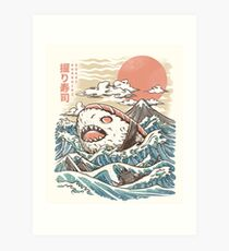 Sharkiri Sushi Art Print