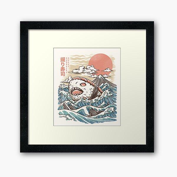 Sharkiri Sushi Framed Art Print