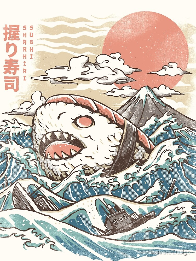 Sharkiri Sushi by ilustrata