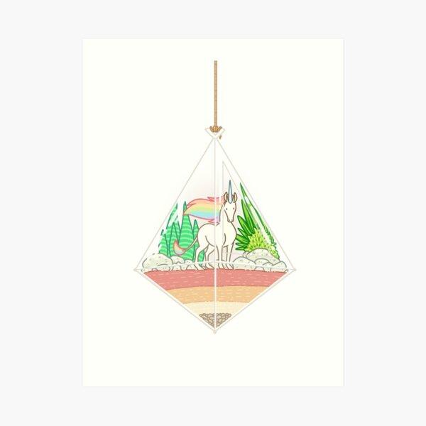Unicorn Terrarium Art Print