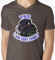 Kritische Rolle - Ja, ich bin sehr süß! T-Shirt mit V-Ausschnitt