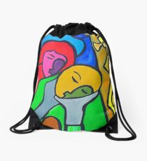Embracing Drawstring Bag