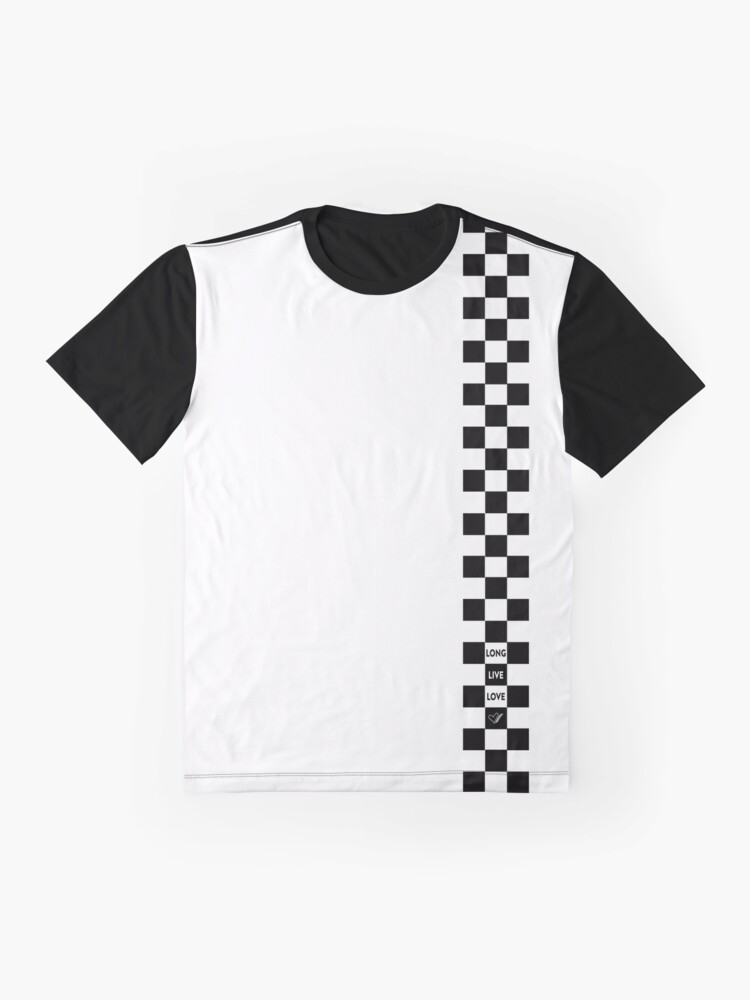 Alternate view of Cartoon Heart Checkered Board - T-Shirt Light Graphic T-Shirt