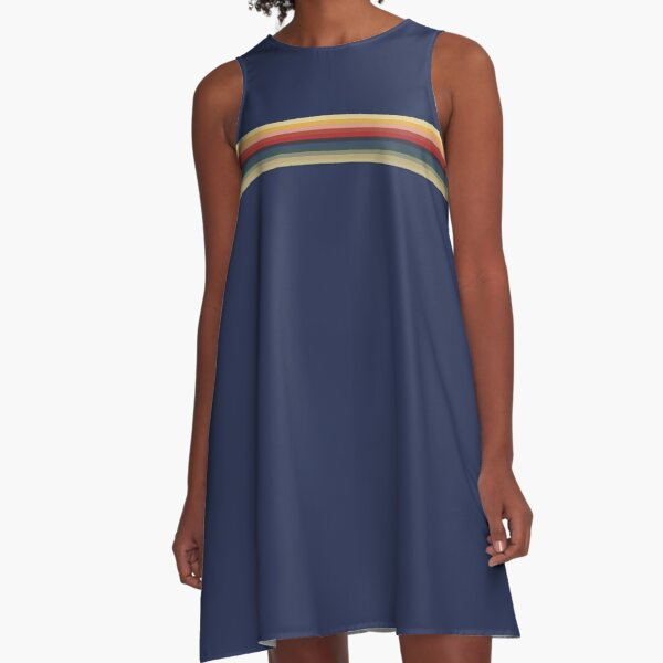 The Blue T-Shirt of Doctor Whittaker A-Line Dress