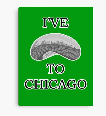 I've Bean To Chicago Canvas Print