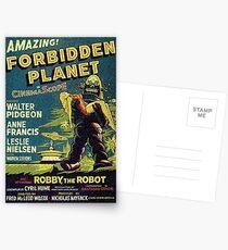 Vintage Sci-fi Movie Forbidden Planet, Robot Postcards