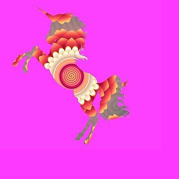 Spiral Unicorn by KaylinArt