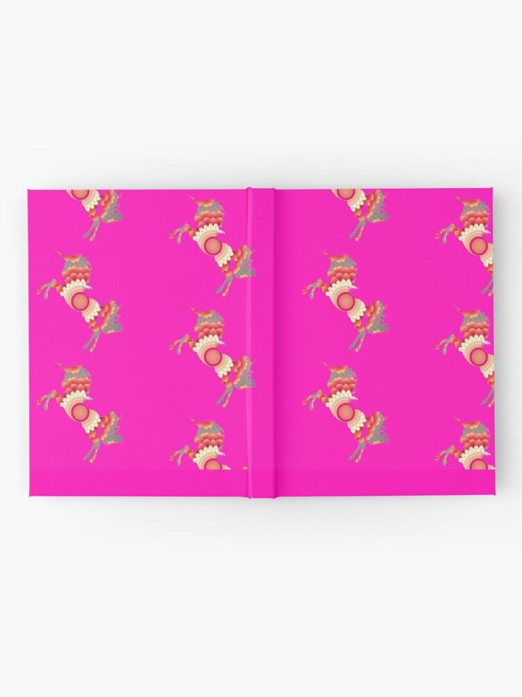 Alternative Ansicht von Spiral Einhorn Notizbuch
