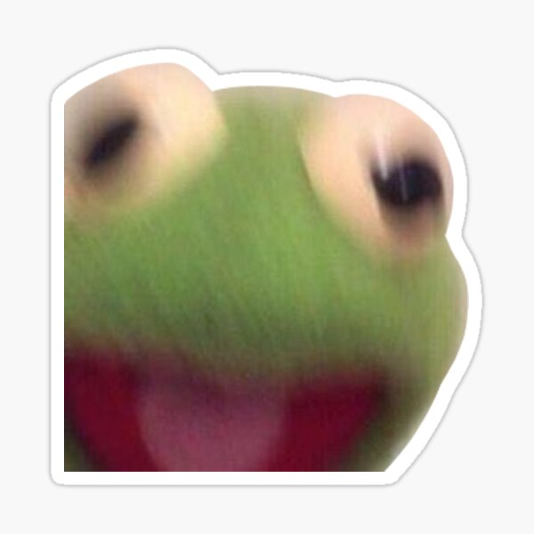 kermit cri Sticker