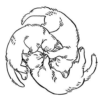 Monochromatic Kitten Circle by HiddenStash