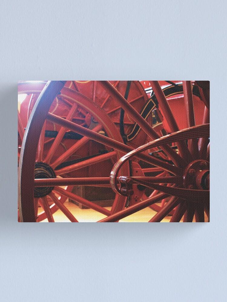 Alternate view of Wheel History Canvas Print