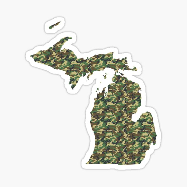 Tree Bark Green | Michigan Camouflage Pattern Sticker