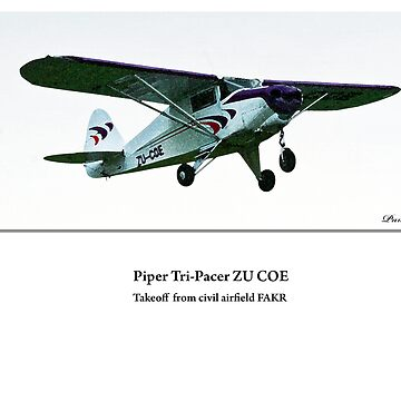 Piper Tri-Pacer takeoff by spotlightkid