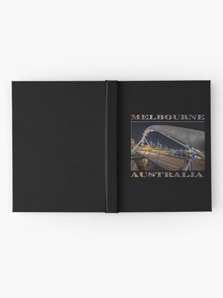 Alternate view of Southgate Bridge At Night (poster edition on black) Hardcover Journal